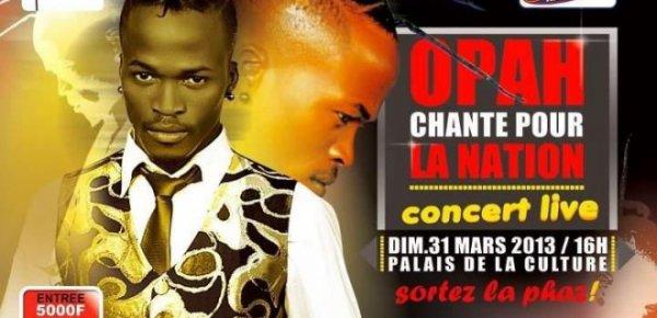 Opah en concert live au palai de la culture de treichville