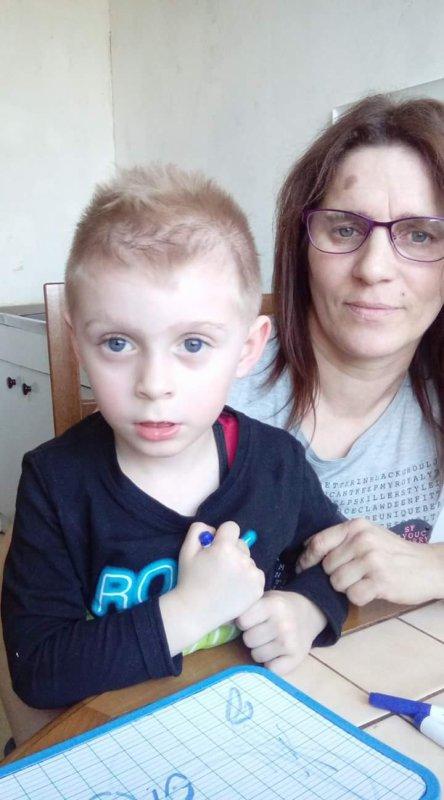 Moi et mon fils de 4 ans
