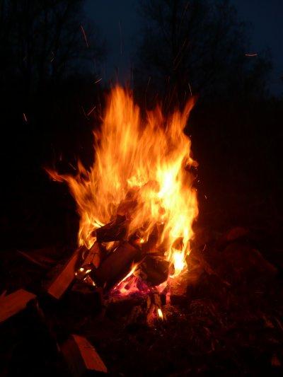 Petit feu en debut de soirréé