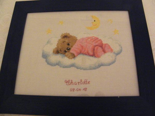 Tableau de naissance Charlotte