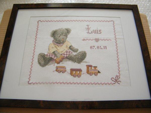 Tableau de naissance Luis (ourson)