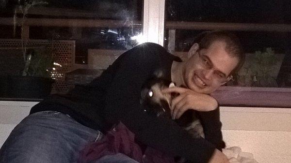 Moment détente le soir avec mon chien