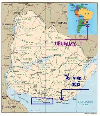 Leçon #1 : Localisation de l'Uruguay sur une carte !