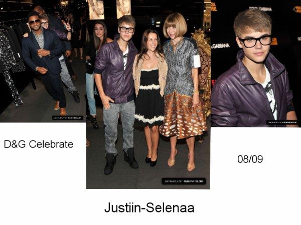 08/09 Justin était à l'évenements Dolce Gabana Celebrate.