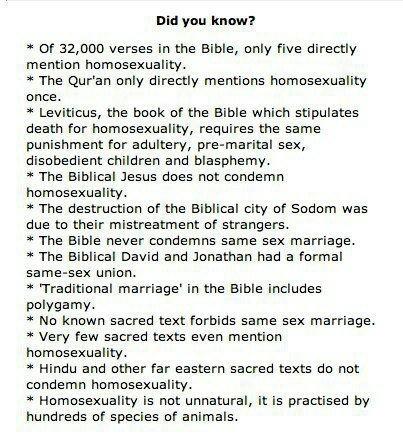 Religion et homosexualité: petite mise au point