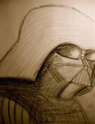 Darth Vader (plomb et fusain)