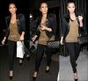 """* Kim plus chic que jamais, allant diner avec des amis au """"ll sole restaurant"""" en ce 11 mars. Top !  Elle portait un slim noir, un t-shirt kaki puis un blazer Balmain ainsi que des Louboutins et une sacoche Chanel. *"""