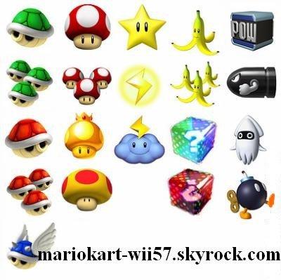 Les objets mario kart sur la wii for Coupe miroir mario kart wii