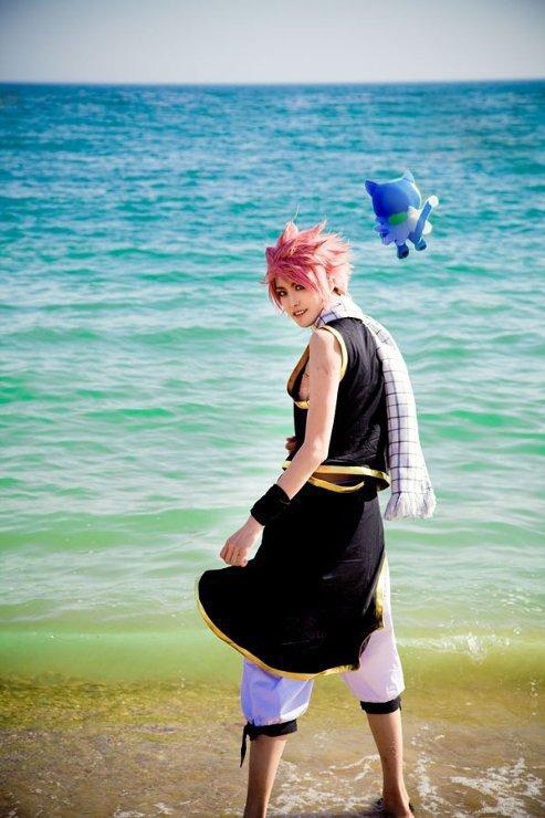 Natsu et Grey à la plage ♥