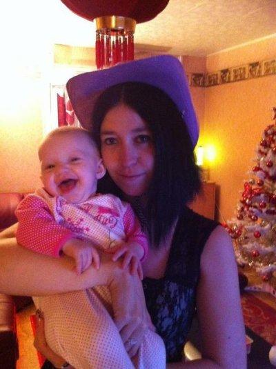 moi et ma fille lenaa avan departir a la nouvelle année