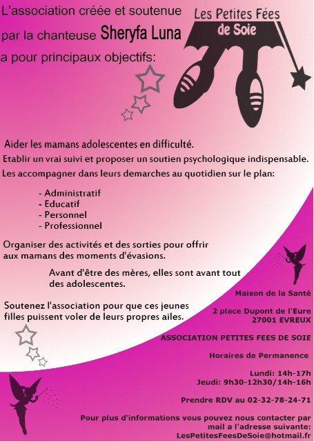 """Affiche association """"Les petites Fées De Soie"""""""