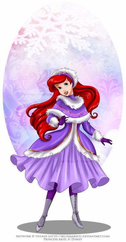 les princesse en mode hiver