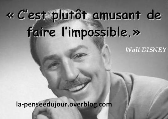 citation de Walt Disney