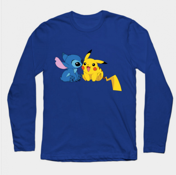 Pikachu & Stitch - Animecute - Long Sleeve T-Shirt
