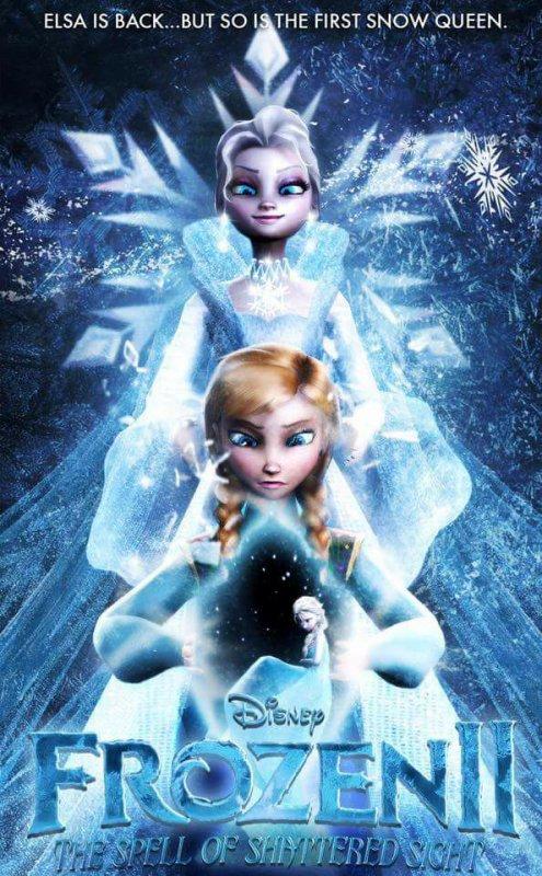 pour vous ça sera la vraie affiche de la reine des neiges 2 où c'est une fausse affiche ? et vous en pensez quoi ?