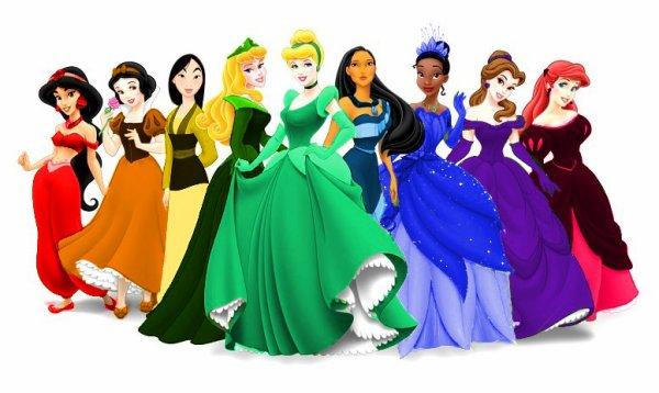 les princesse en couleur