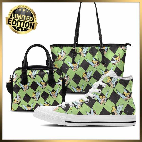 Chaussures et sacs en toile de fée personnalisée.