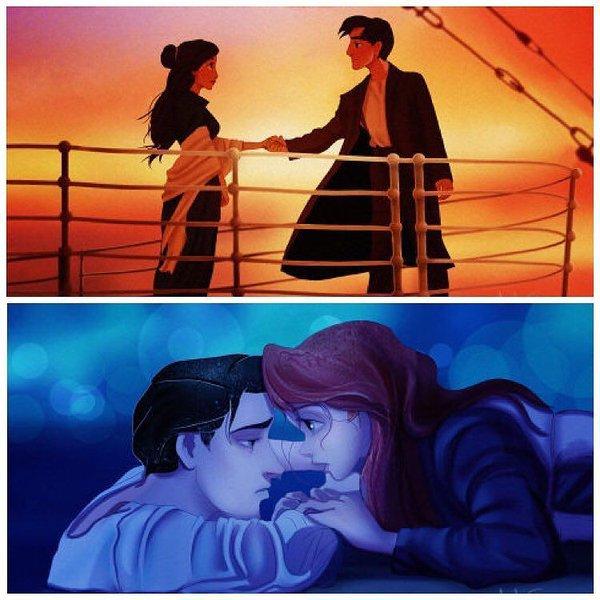et si les personnages Disney était à bore du Titanic