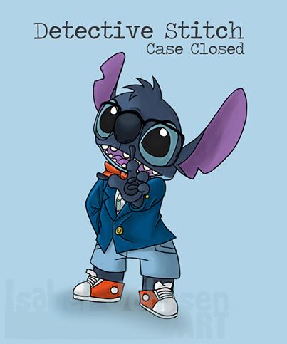 un mélange de détective Conan et stitch