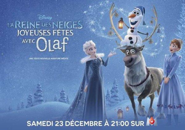 La Reine des Neiges : Joyeuses Fêtes avec Olaf sera diffusé le 23 décembre sur M6
