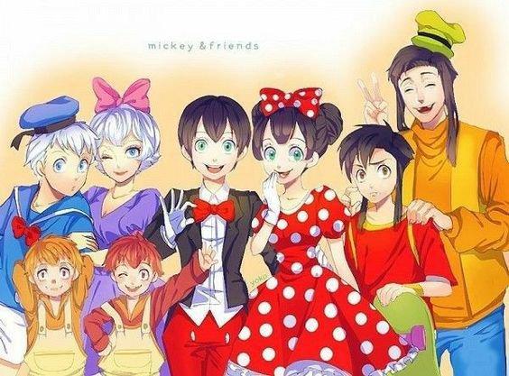 les personnage en manga
