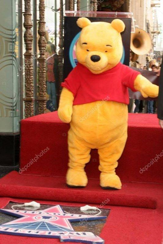 Winnie l'Ourson. Il vient d'obtenir son étoile sur le célèbre boulevard hollywoodien