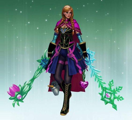 princesse en guerrière