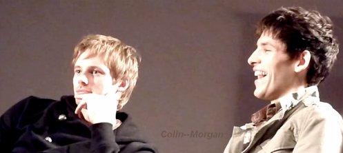 Colin Morgan & Bradley James.