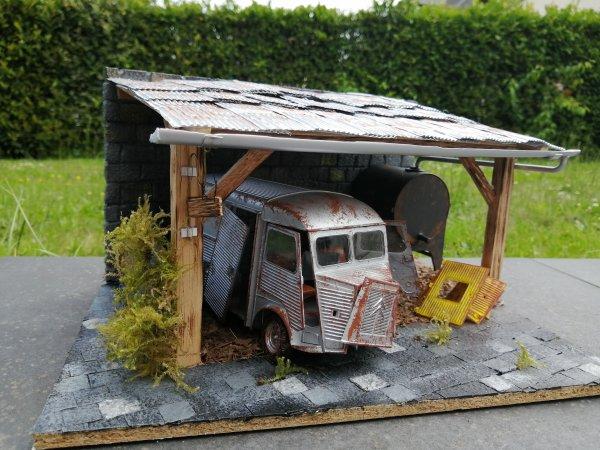 Diorama d'une vieille grange 😁