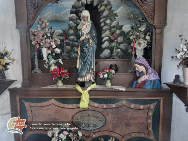 mémère plus tard nous iront aussi bruler une bougie pour toi a Chapelle Notre-Dame de Grâce Gosselies