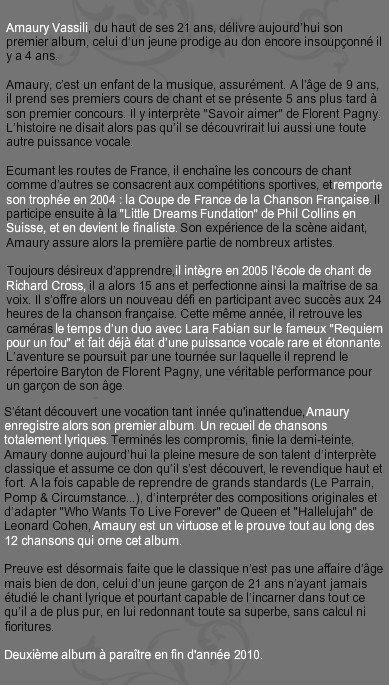 Infos Amaury Créatrice du blog
