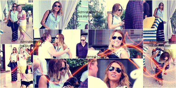 15/05/2012 - M. sortant de son hôtel à Miami Beach pour se rendre dans un studio d'enregistrement.  BOF pour la tenue   Miley nous prépare une surprise de taille. En effet, la belle serai à Miami afin de commencer son quatrième album solo. Nous savons aussi que Miley a peut-être prévue une tournée en 2013. La fan sur les photo qui a eu la chance de rencontrer Miley cette même journée a également pu discuter avec son manager, qui lui a révélé qu'il « réaliserait tous les rêves de Miley » avec cet album, qui aura des sonorités pop/hip-hop un peu ceux comme Katy Perry et Rihanna. Le manager de M. fera tout pour transformer Miley en véritable star et lui faire un nom aux côtés des plus grands dans le domaine musical. Il serai probable de Miley vienne au Royaume-Uni pour promouvoir ce futur album. Avec un peu chance, Miley passera peut-être par la France.