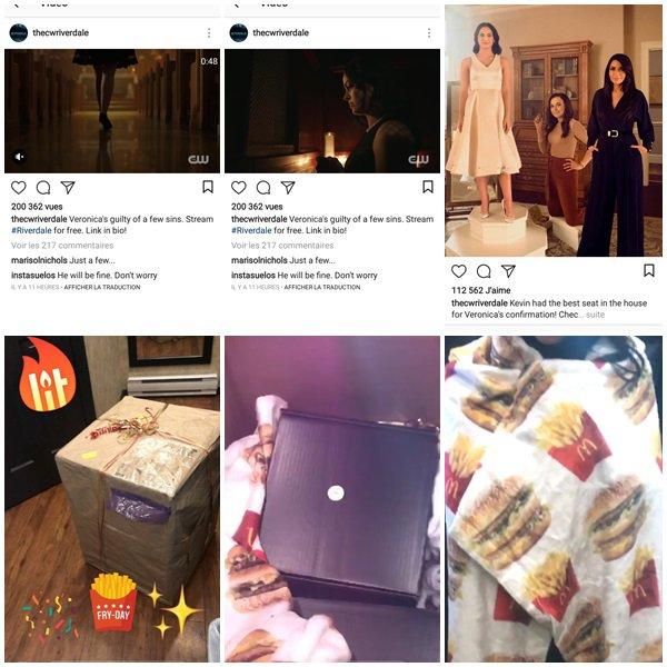 31 Janvier 2018 - Camila a pris le contrôle de l'Instagram de Riverdale et nous a amené sur le tournage de la série