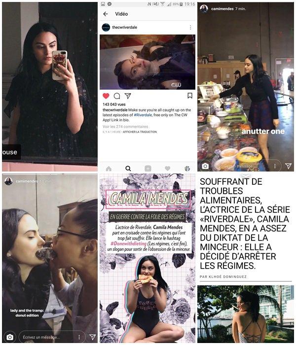 Du 21 au 26 Février 2018, Camila a posté des photos sur ses réseaux sociaux. Elle est en tournage pour la saison 2 de Riverdale