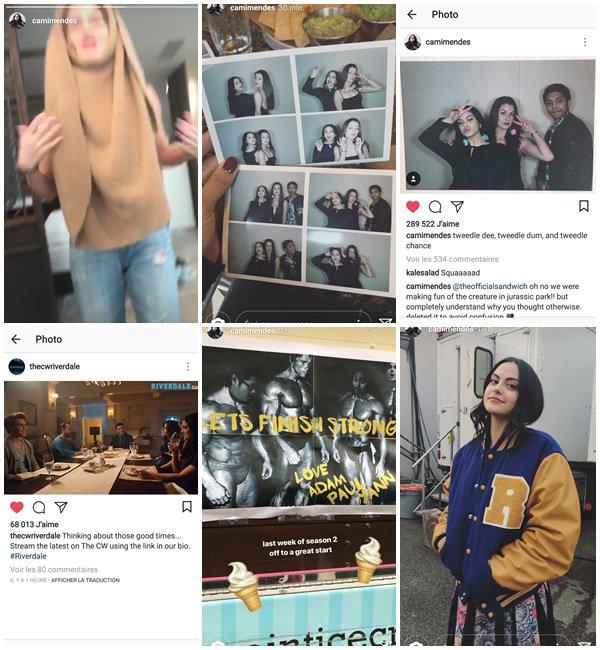 Du 12 au 24 Mars 2018, Camila a posté sur son Instagram et Instastory