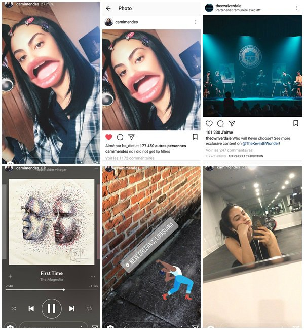 Du 27 Mars au 6 Avril 2018, Camila a posté sur son Instagram et Instastory. Camila était sur le tournage de son nouveau film «The Stand-In» . Riverdale a été renouvelé pour une saison 3
