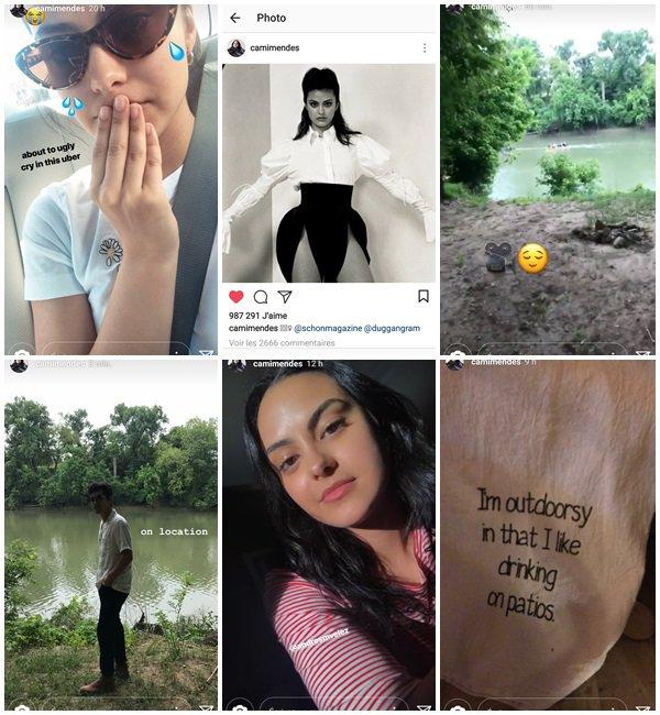 """Du 16 au 21 Avril 2018, Camila a posté sur son Insta. Le 21 Avril 2018, Camila a commencé le tournage d'un nouveau film """"Coyote Lake"""""""