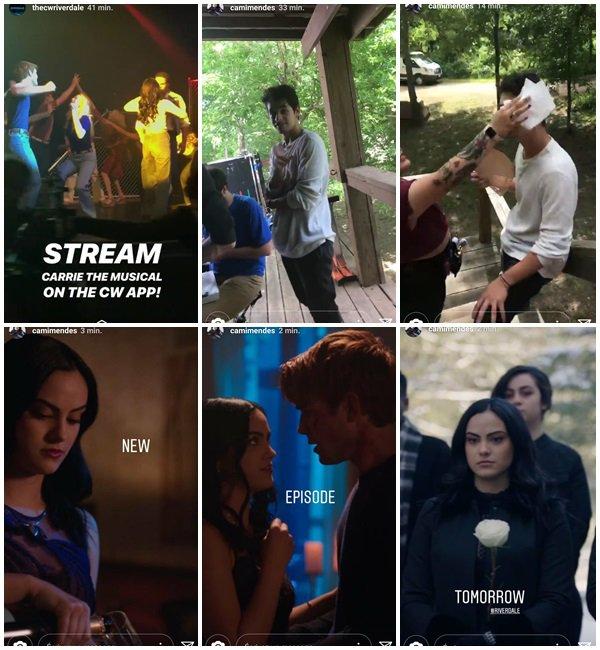 """Du 22 au 24 Avril 2018, Camila a posté sur son Insta. Elle est en ce moment sur le tournage du film """"Coyote Lake""""."""