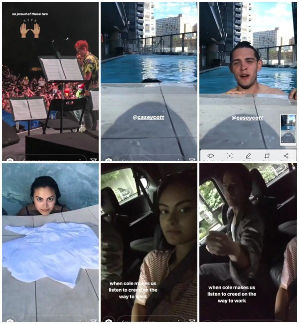 Du 5 au 12 Juillet 2018, Camila a posté sur son Instagram.