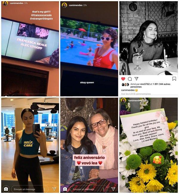 Du 5 au 12 Juillet 2019, Camila a posté sur son Instagram