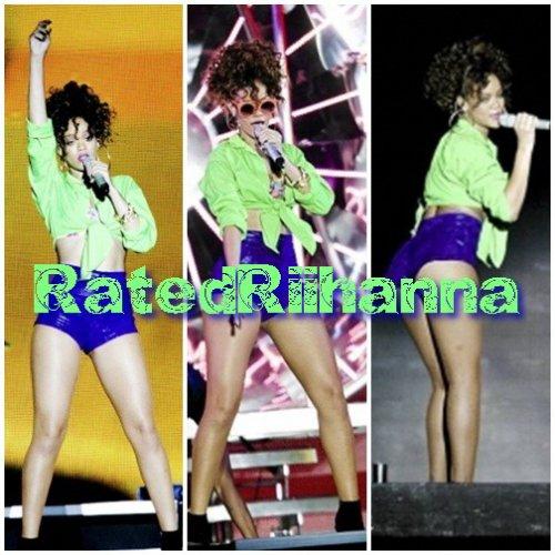 Rihanna est arrivée sur la scène du festival « On The Beach » en Finlande avec 1 heure de retard. Après le concert, Rihanna s'est rendue dans une boite de nuit où un espace VIP lui était réservé. Elle s'est ensuite arrêtée à MacDonald's, puis est rentrée à son hôtel !