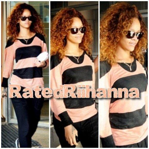 Après environ 16 heures de vol incluant un changement à Londres, Rihanna est arrivé hier matin en Finlande. Nous n'avons pas plus de photos.