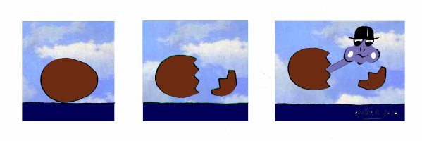 EGGY MAGRITTE tribute to  MAGRITTE