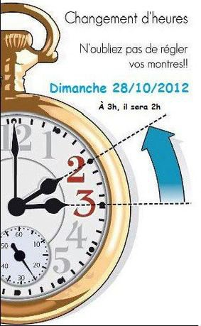 N'oubliez pas de changer les heures
