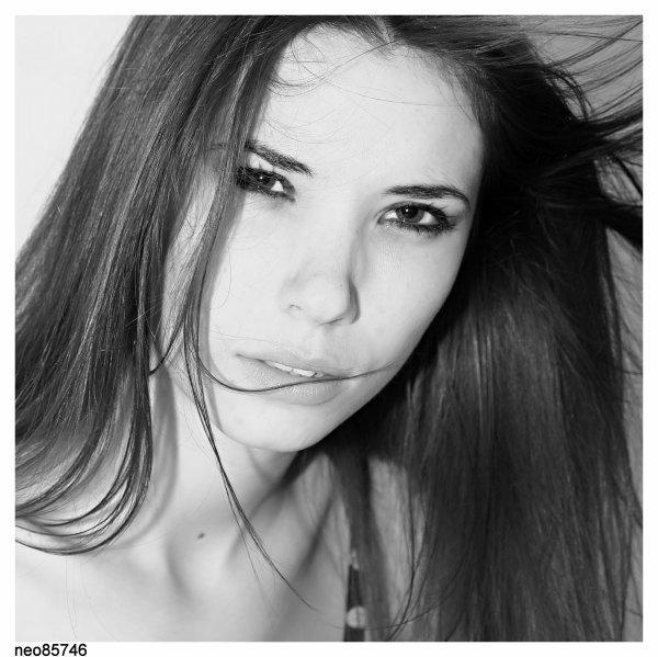 modele - portrait - noir et blanc