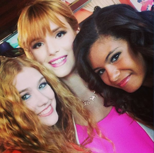 Kat McNamara With Bella Thorne, Peyton List And Coco Jones At The Paul Frank Summer 2013 Collection Party