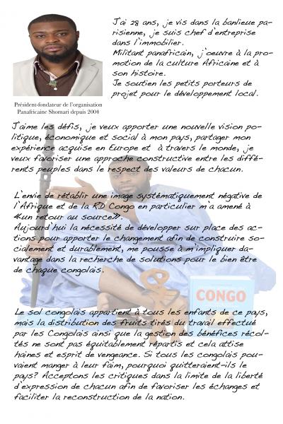 NOTRE PROJET DE SOCIÉTÉ AUX ELECTIONS LÉGISLATIVES DE LA RD CONGO DANS LE DISTRICT DE LA FUNA