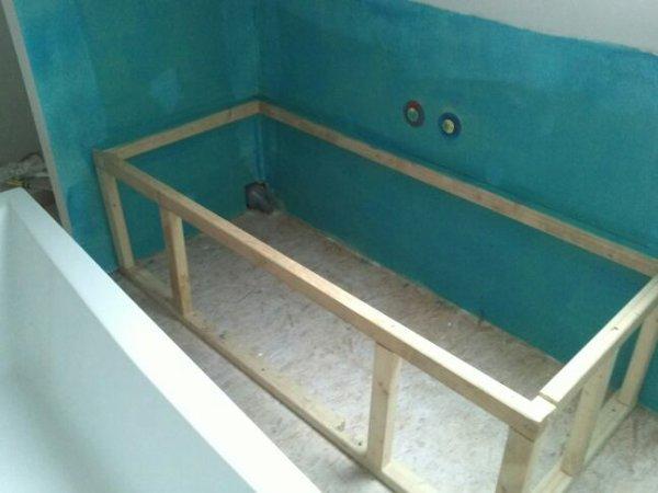 Lundi 12 novembre carrelage cellier tablier baignoire - Comment carreler autour d une baignoire ...