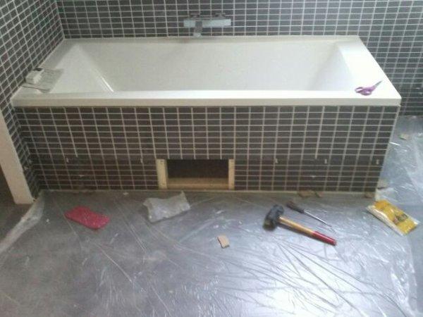 Samedi 9 fevrier wc rdc ok carrelage salle de bain ok for Peinture carrelage de salle de bain