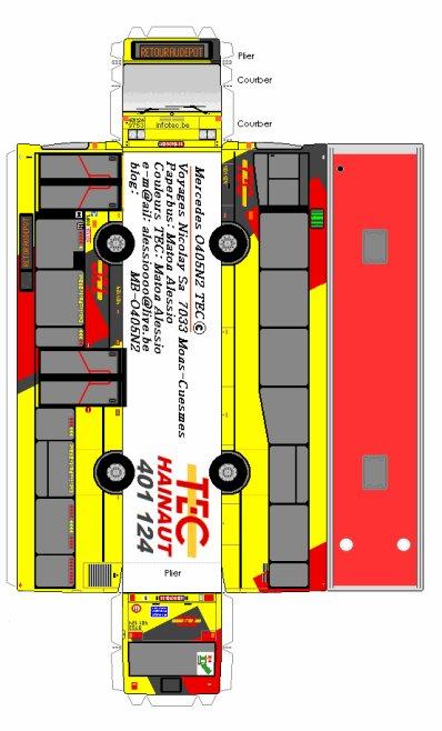 Paperbus Mercedes O 405 N² TEC N°401 124